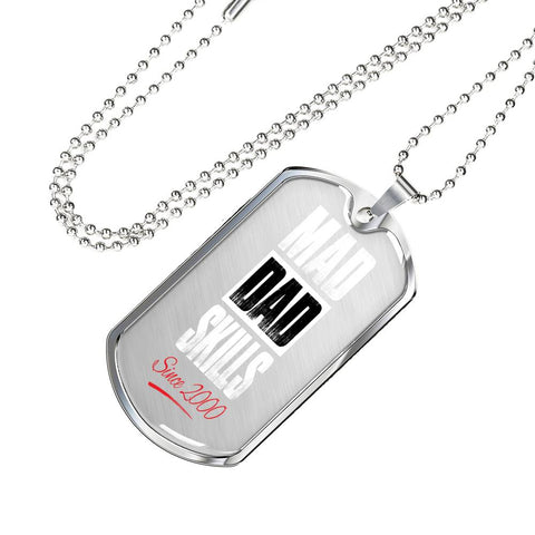 Mad Dad Skills Military Tag Necklace - FamilyTrophy.com
