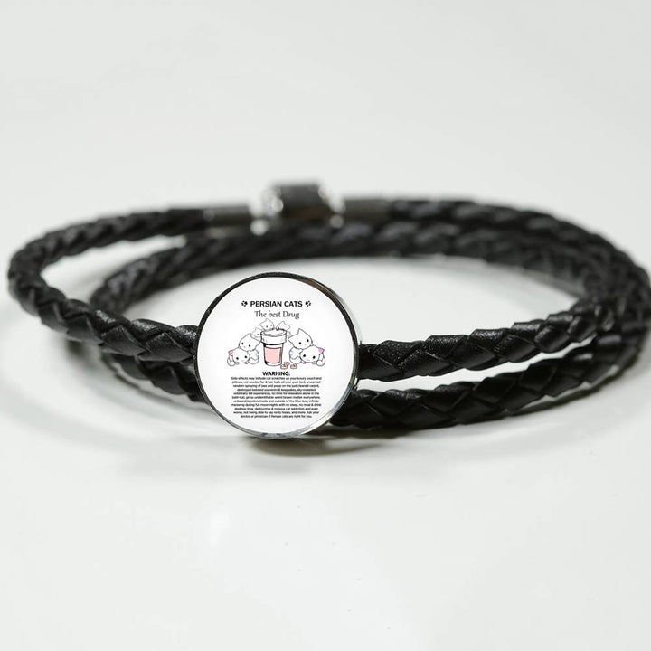 Bracelet Shineon, Woven Leather Bracelet & Charm, ShineOn Fulfillment, FamilyTrophy.com - FamilyTrophy.com