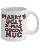 Best Funny Ugly Christmas Cocoa Mug Gift - 11OZ Pencil Cup - Perfect for Holidays, Birthday, Men, Women, Gift for Him & Her - Fun Inspirational Humor & Ugly Cup for - Cute 11 oz Mug For Hot Cocoa, Coffee & Tea, Coffee Mug, Gearbubble, FamilyTrophy.com - FamilyTrophy.com