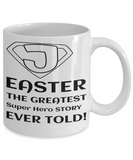 Super Hero Jesus Easter Mug, Easter Mug Gift, Christianity Gifts For Mom, Dad, Grandma, Granddad, Mom Mug Christian, Mugs For Women Christian, Easter 2017 2018, Coffee Mug, Gearbubble, FamilyTrophy.com - FamilyTrophy.com