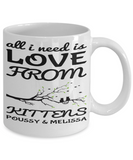 Kitten Mug V Day 2017 2018 For Cat Lovers Cocoa Cup Cookies, Candy Chocolate Jar, Coffee Mug, Gearbubble, FamilyTrophy.com - FamilyTrophy.com