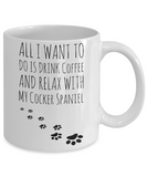 Coffee Play Cocker Spaniel Mug - Funny Sayings Quotes Cup for Dog Lovers - Perfect Holiday 2016 Gift, Coffee Mug, Gearbubble, FamilyTrophy.com - FamilyTrophy.com