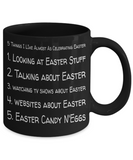 Easter Holiday Lover Coffee Mug Coffee Cup Funny Sayings Mugs Gifts For Women Men Grandparents Children Easter Holiday Ideas For Coffee, Tea, Coloring Pens, Chocolate Eggs, 5 Things Celebration Easter 2017 2018, Coffee Mug, Gearbubble, FamilyTrophy.com - FamilyTrophy.com