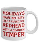 Holiday Christmas Mug Gift For Redhead Spanish Girls - Xmas Inspiration Gift For Her, Mom, Grandma, Sister, Girlfriend - 11oz White Ceramic Cup for Cocoa, Coffee, Tea, Cookies & Ginger Bread, Coffee Mug, Gearbubble, FamilyTrophy.com - FamilyTrophy.com