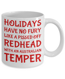 Holiday Christmas Mug Gift For Redhead Australian Girls - Xmas Inspiration Gift For Her, Mom, Grandma, Sister, Girlfriend - 11oz White Ceramic Cup for Cocoa, Coffee, Tea, Cookies & Ginger Bread, Coffee Mug, Gearbubble, FamilyTrophy.com - FamilyTrophy.com