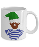 Beard Elf Sailor Christmas Mug - Best Funny X-Mas Holiday Gift - 11OZ Coffee Mug - Perfect for Holidays, Birthday, Men, Women, Gift for Him & Her - Funny Inspirational Humor Cup for Bearded Elf Guys, Coffee Mug, Gearbubble, FamilyTrophy.com - FamilyTrophy.com