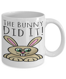 Fun Kid Mug Bunny Rabbit Cup For Children White Bpa Free Chocolate Cookies Jar Coloring Marker Holder Drink Mugs For Cocoa Milk Juice Best Affordable Holiday Gift For Kids 2017 2018 The Bunny Did It, Coffee Mug, Gearbubble, FamilyTrophy.com - FamilyTrophy.com