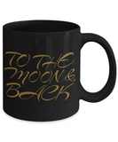 To The Moon & Back Black Mug - 2016 Christmas Cup - Gift for Family, Grandma, Mom, Dad, Grandpa - Holiday Gift, Coffee Mug, Gearbubble, FamilyTrophy.com - FamilyTrophy.com