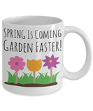 Gardening Mug White Coffee Cup For Holidays 2017 2018 Gifts For Him Her Family Grandparent Grandma Granddad Wive Husband Couples Funny Sayings Holiday Tea Coffee Mugs Cups For Gardeners Cups Mugs Spring Garden Faster Pen Holder Funny Flower Pot, Coffee Mug, Gearbubble, FamilyTrophy.com - FamilyTrophy.com