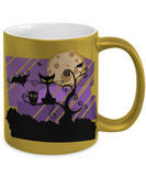 Creepy Full Moon Witch Coffee Mug For Women Cat Bat Owl Holiday Gift Tea Cup Halloween Gifts For Kids, Coffee Mug, Gearbubble, FamilyTrophy.com - FamilyTrophy.com