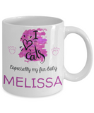I Love Cats Mug - Funny Saying Quote Gift for Her & Him - Personalized Cat Name Gift for Kids, Parents, Mom, Dad, Grandparents - Best Morning & Night Cup for Cocoa, Coffee & Candy Cane, Coffee Mug, Gearbubble, FamilyTrophy.com - FamilyTrophy.com