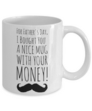 Father's Day Morning Coffee Mug - Funny Sayings & Quotes Dad Gift for Him - Hot Cocoa, Milk, Cookies, Candy & Pencil Cup for Men & Dads, Coffee Mug, Gearbubble, FamilyTrophy.com - FamilyTrophy.com