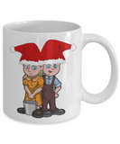 Jack and Jill with a pail of water Christmas 2016 Coloring Mugs for Kid - Inspirational Christmas Story Cup - Fairy Tale Gifts -, Coffee Mug, Gearbubble, FamilyTrophy.com - FamilyTrophy.com