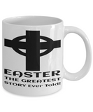 Motivational Spirituality Catholic Bible Cross Mugs Coffee Mug Christianity Coffee Cup Religious Art Print Artsy Jesus Christ Decorative Pencil Holder White Ceramic 11 oz pba Free Dishwaher Safe 2017 2018 Mug Greatest Easter Story Ever Told, Coffee Mug, Gearbubble, FamilyTrophy.com - FamilyTrophy.com