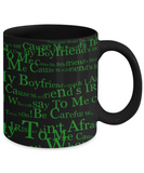 Irish Boyfriend Coffee Mug Black Ceramic St. Patrick's Day Gifts Granny Cup For Tea, Coffee & Candy, Coffee Mug, Gearbubble, FamilyTrophy.com - FamilyTrophy.com
