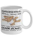 Personalized Grandma Mug Vday 2017 2018 Coffee Cup For Granny Candy Chocolate, Coffee Mug, Gearbubble, FamilyTrophy.com - FamilyTrophy.com