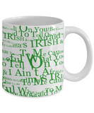 Irish Grandma Coffee Beer Whisky Mug St. Patrick's Day Gifts Cup White Ceramic Cup For Tea, Coffee & Candy, Coffee Mug, Gearbubble, FamilyTrophy.com - FamilyTrophy.com
