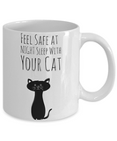 Feel Safe Cat Mug - Funny Saying Quote Gift for Her & Him - Perfect Gift for Kids, Parents, Mom, Dad, Grandparents - Best Morning & Night Cup for Cocoa, Coffee & Pencils, Coffee Mug, Gearbubble, FamilyTrophy.com - FamilyTrophy.com