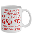 Holiday Christmas Mug With Funny Saying & Inspiration Quote - X-mas Surprise For Her, Grandma, Grandpa, Grandparents - Cup for Cocoa, Coffee, Tea, Cookies & Ginger Bread - First Name Grandkid Personalized Xmas Gift, Coffee Mug, Gearbubble, FamilyTrophy.com - FamilyTrophy.com