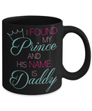 Prince Daddy Mug Gift - Cute Dad Cup For Girl - Holiday Stocking Stuffer for Cocoa, Milk & Candy Cane!, Coffee Mug, Gearbubble, FamilyTrophy.com - FamilyTrophy.com