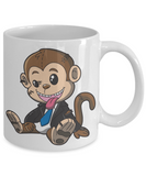 Fun Kid Mug Monkey Cup For Children White Bpa Free Chocolate Cookies Jar Coloring Marker Holder Drink Mugs For Cocoa Milk Juice Best Affordable Holiday Gift For Kids 2017 2018, Coffee Mug, Gearbubble, FamilyTrophy.com - FamilyTrophy.com