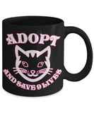 Cat Adoption Rescue Mug - Inspirational Kitty Cup - Inspiration Kitten Gift For Cat Lovers, Coffee Mug, Gearbubble, FamilyTrophy.com - FamilyTrophy.com