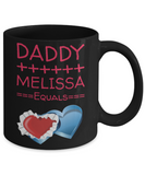 Valentine Mug For Girls - Black Hot Cocoa Cup For Her - Valentine's Day Mug With Funny Saying - Pink Holiday Coffee Mug For Dad & Daughter, Coffee Mug, Gearbubble, FamilyTrophy.com - FamilyTrophy.com