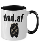 Fathers Day 2020 Mug For AF Dad - Great Gift For That Special Daddy - Funny Father's Holiday Surprise - 11oz Two Tone Cup For Him