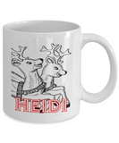 Rudolph Red Nose Reindeer Personalized Mug Color, Coffee Mug, Gearbubble, FamilyTrophy.com - FamilyTrophy.com
