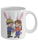 Hensel Gretel Grimm Easter Bunny Ear Mug Cup For Kids Funny Children Gifts For Holidays 2017 2018 Color Pencil Holder Chocolate Egg Jar Gift Surprise Brother Sister Hensel Gretel Unique Gift For Easter 2017 2018, Coffee Mug, Gearbubble, FamilyTrophy.com - FamilyTrophy.com