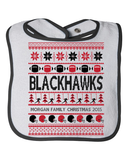 Football Blackhawks Family Name Personalized Christmas 2015 Baby Bib, Bib, Trexify, FamilyTrophy.com - FamilyTrophy.com