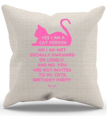 Cat Lady Pillow Case, Pillow, Trexify, FamilyTrophy.com - FamilyTrophy.com