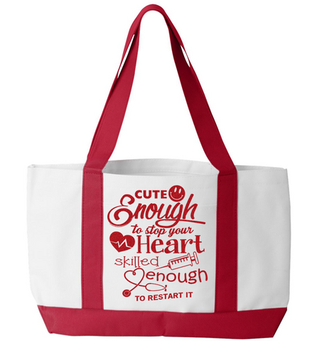 Cute Enough Tote Bag, Tote Bag, Trexify, FamilyTrophy.com - FamilyTrophy.com