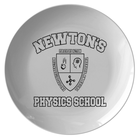 Dinner Plate Newton's Physics School - FamilyTrophy.com
