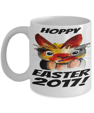 Happy Easter Bunny Rabbit Mug White Coffee Cup For Easter 2017 2018 Gifts For Him Her Family Grandparent Grandma Granddad Wive Husband Couples Funny Sayings Holiday Tea Coffee Mugs Cups Hoppy Easter 2017 Jar, Coffee Mug, Gearbubble, FamilyTrophy.com - FamilyTrophy.com