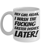 Vulgarity Cup Mug For Women Men Couples Wives Husbands Fun Sayings Easter Gifts 2017 2018 Humorous Surprise For Coffee, Tea, Cocoa, Chocolate Vulgar Profane Holiday Mugs Easter Dishes Jar, Coffee Mug, Gearbubble, FamilyTrophy.com - FamilyTrophy.com