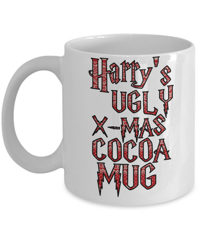 Best Funny Ugly Christmas Cup Gift - 11OZ Pencil Mug - Perfect for Holidays, Birthday, Men, Women, Gift for Him & Her - Fun Inspirational Humor & Ugly Cup for - Cute Harry X-Mas 11 oz Mug For Hot Cocoa, Coffee & Tea - Personalization Gifts!, Coffee Mug, Gearbubble, FamilyTrophy.com - FamilyTrophy.com