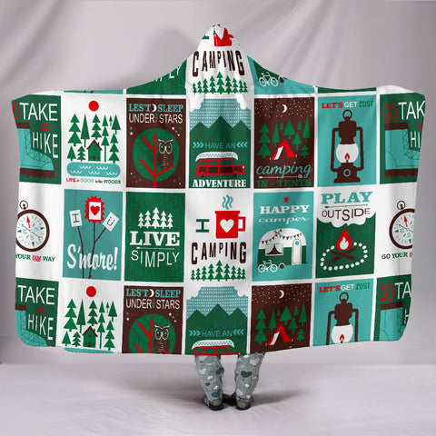 Camping Hooded Blanket - FamilyTrophy.com
