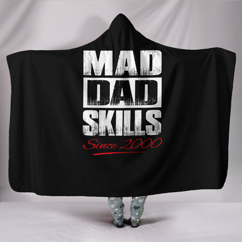 hooded blanket mad dad skills - FamilyTrophy.com