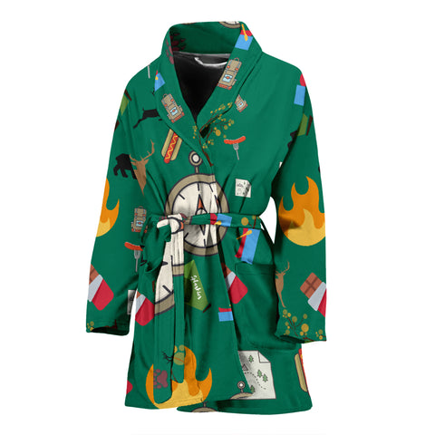 Camping Essentials Women's Bath Robe - FamilyTrophy.com