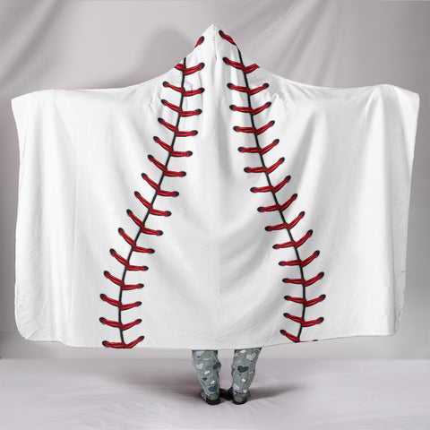 Baseball Hooded Blanket - FamilyTrophy.com