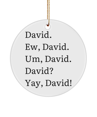 Ew David Ceramic Xmas Ornament