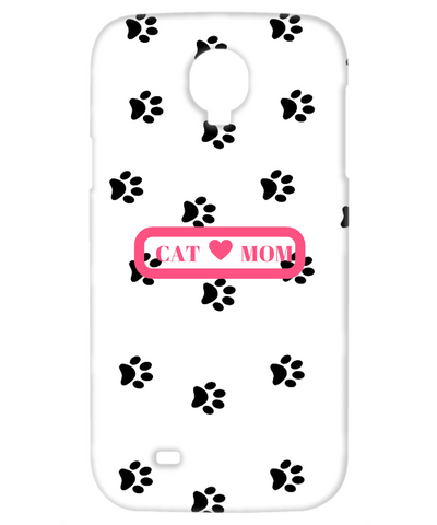 Cat Mom Galaxy 4 white pink white cell phone case, Phone Case, Gearbubble, FamilyTrophy.com - FamilyTrophy.com