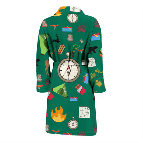 Camping Essentials Men's Bath Robe - FamilyTrophy.com