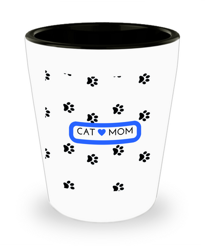 *Attention Cat Moms* Turn Your Shot Glass into a Piece of Purrrfect Cat Mom Art! Hint: Pawfect Cat Lovers Shotglass Gift, Shot Glass, Gearbubble, FamilyTrophy.com - FamilyTrophy.com