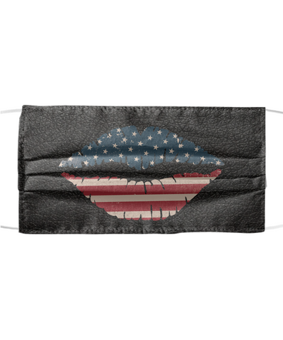 America Independence Day Face Mask - Freedom, Liberty, Victory - Protection With Filter Pocket - Rremovable Filter