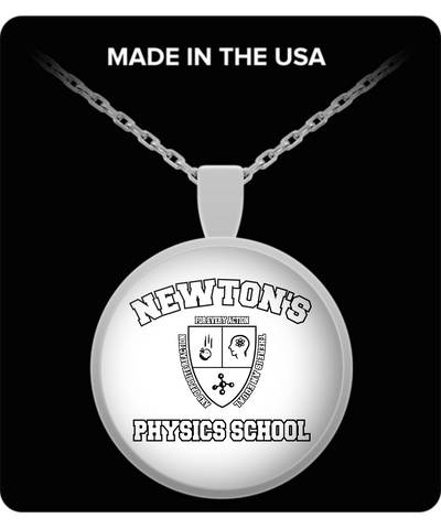 Newton's Physics School Back To School Necklace Funny Gift For Female Educator, Teacher, Professor & University Girls & Women Who Like Science