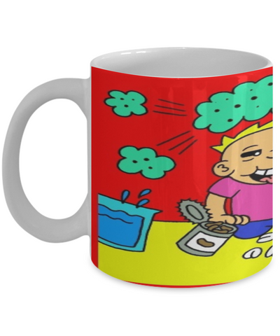 Funny Christmas 2016 Fart Mug - XMas Humor For Boys & Girls - Stocking Stuffers Farty Humor - Funny 11oz Ceramic Cup For Cocoa, Milk & Pens, Coffee Mug, Gearbubble, FamilyTrophy.com - FamilyTrophy.com