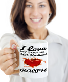 Personalized Hot Husband Mug Vday 2017 2018 Coffee Cup For Him Candy Chocolate Jar, Coffee Mug, Gearbubble, FamilyTrophy.com - FamilyTrophy.com