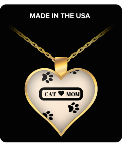 *Attention Cat Moms* Turn Your Jewelry into a piece of Purrrfect Cat Art! Hint: Purrfect Gifts for Cat Lover - Cat Mom Heart Necklace Pink, Necklace, Gearbubble, FamilyTrophy.com - FamilyTrophy.com